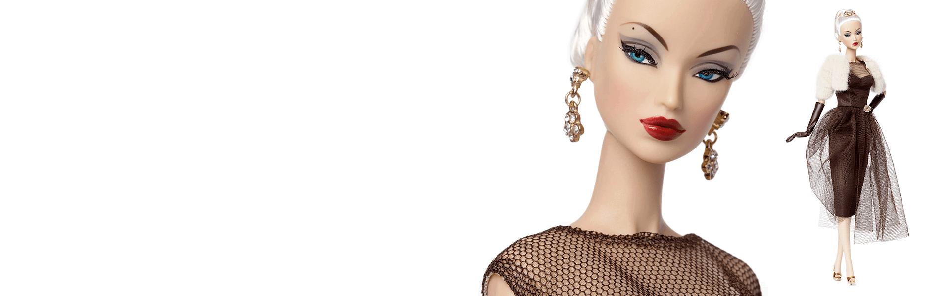 Dynamite Girls Jem Victoire Roux Poppy Parker Fashion Royalty Metallic Long Doll Gloves for Integrity Toys dolls